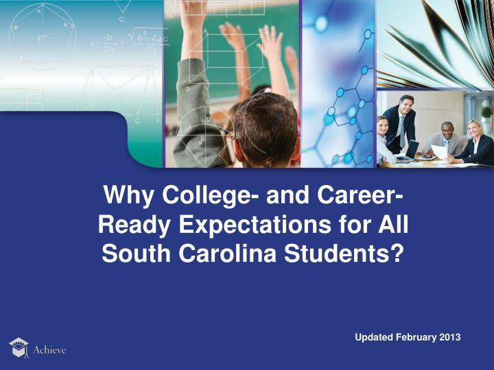 Why College- and Career-Ready Expectations for