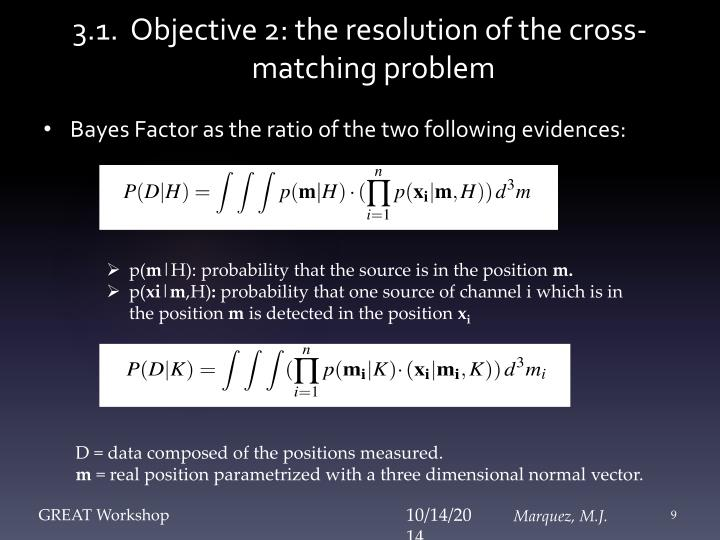 3.1.  Objective 2: the resolution of the cross-matching problem