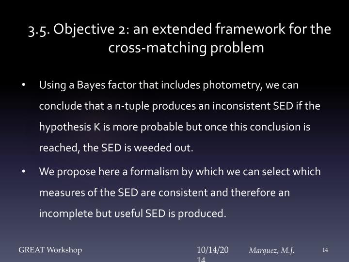 3.5. Objective 2: an extended framework for the cross-matching problem