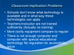 classroom implication problems