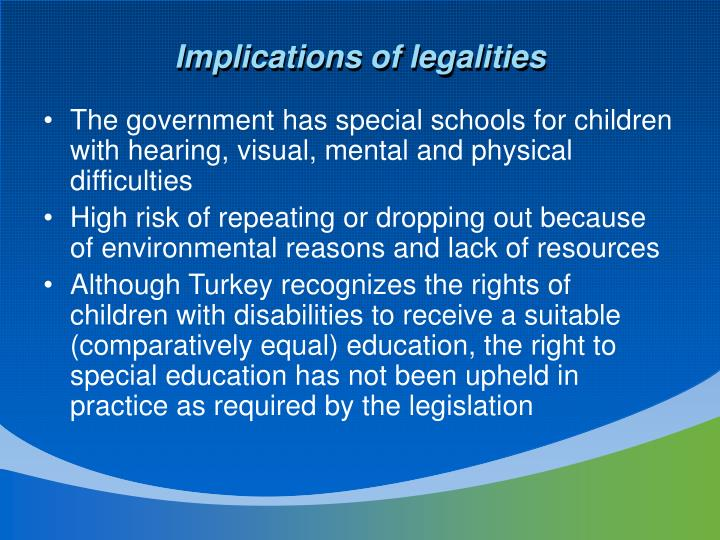 Implications of legalities