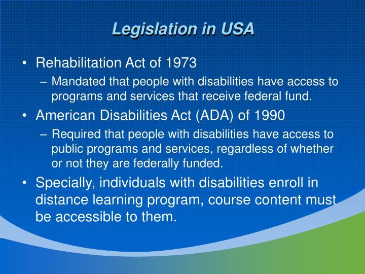 Legislation in USA