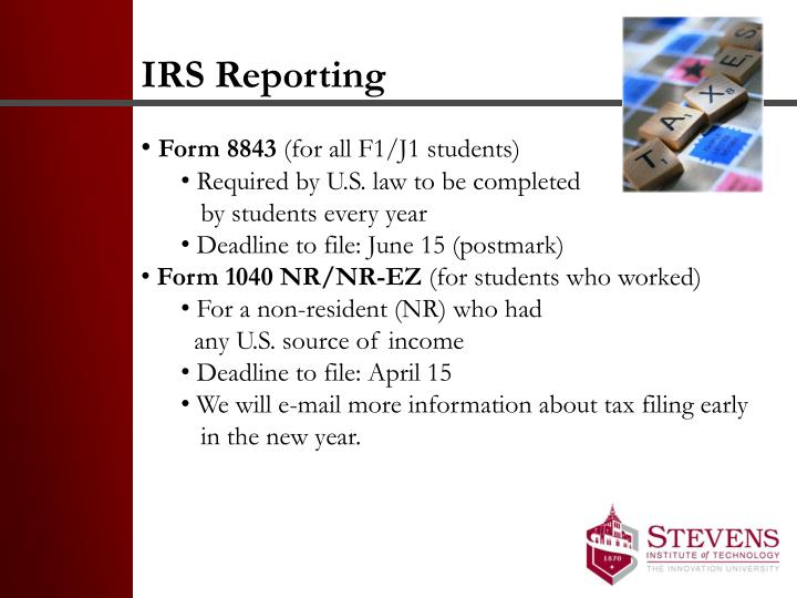 IRS Reporting
