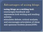 advantages of using blogs