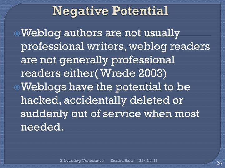 Negative Potential