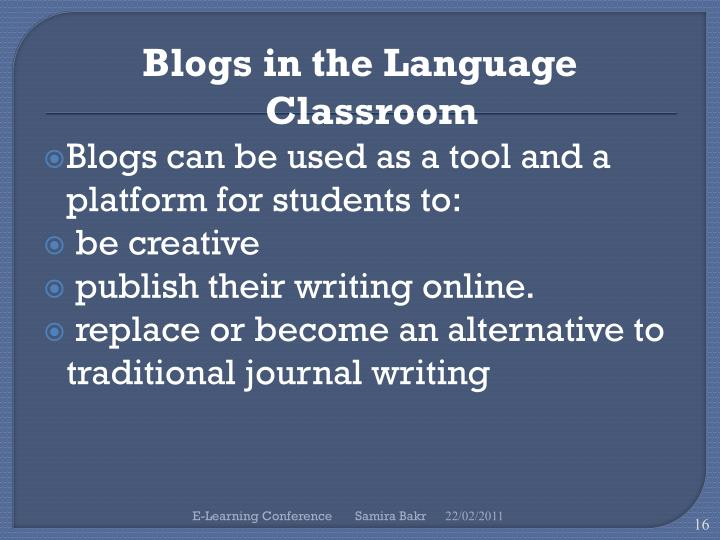 Blogs in the Language Classroom
