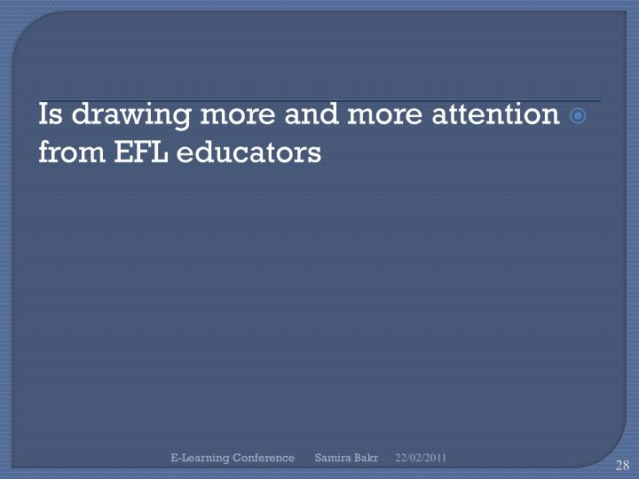 Is drawing more and more attention from EFL educators
