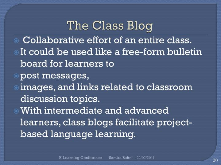 The Class Blog