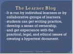 the learner blog