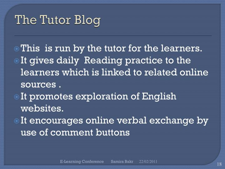 The Tutor Blog