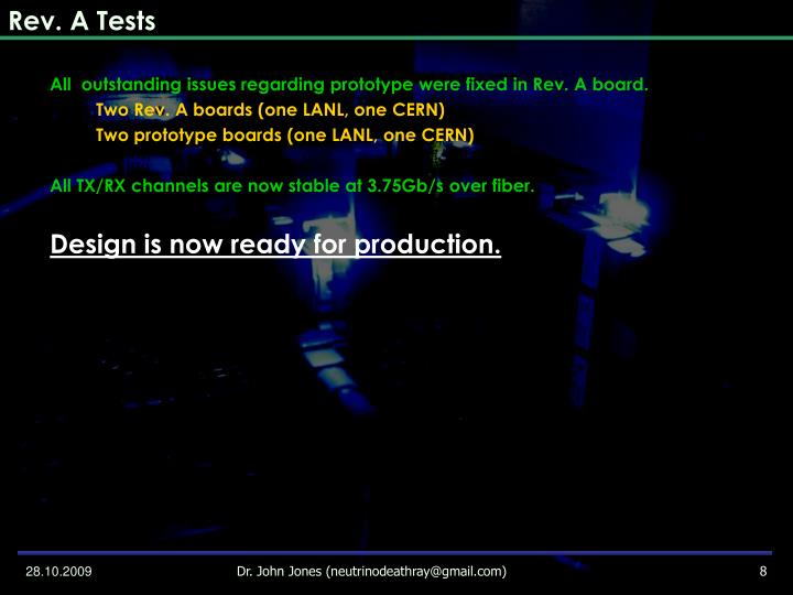 Rev. A Tests