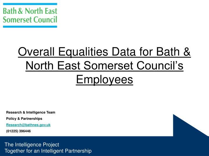 Overall equalities data for bath north east somerset council s employees