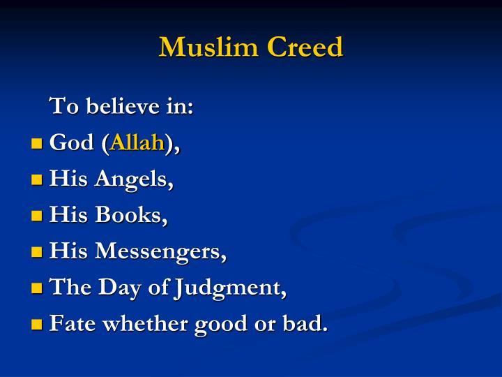 Muslim Creed