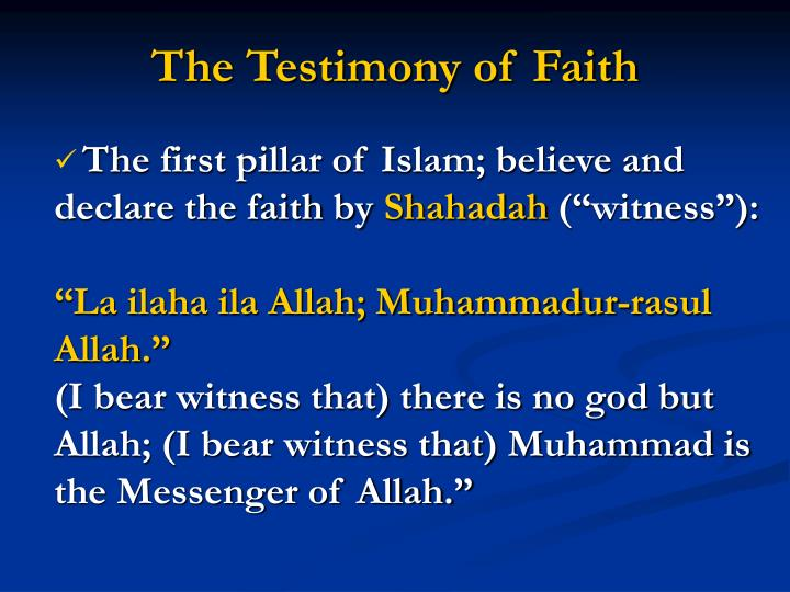 The Testimony of Faith