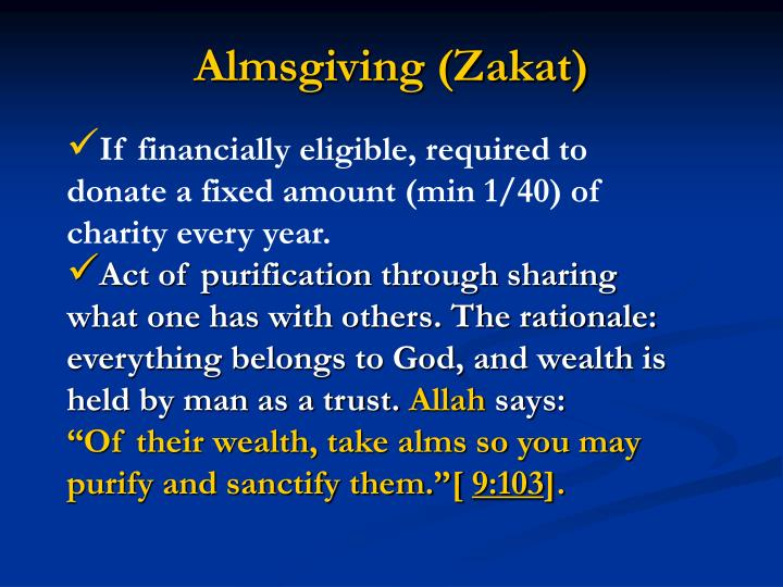 Almsgiving (Zakat)