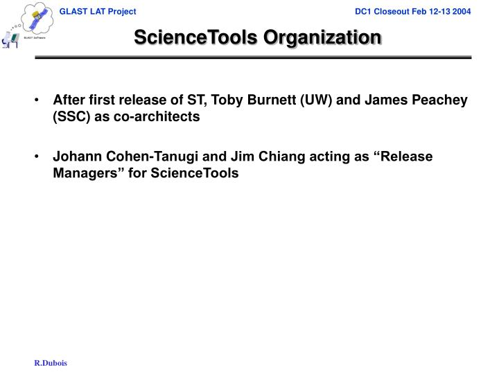ScienceTools Organization