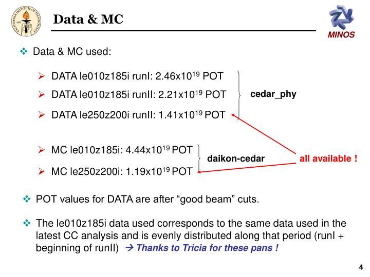 Data & MC