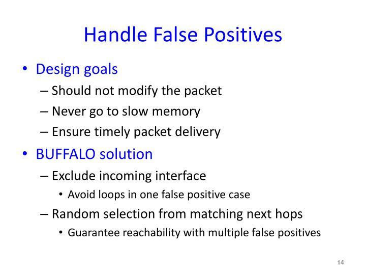 Handle False Positives