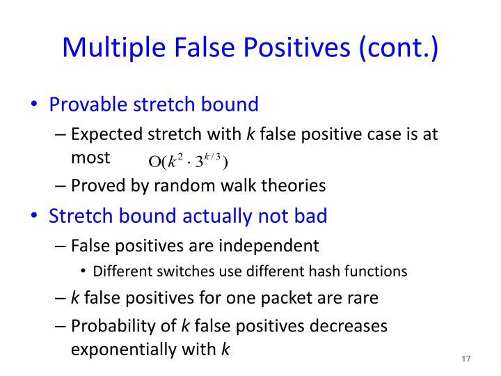 Multiple False Positives (cont.)