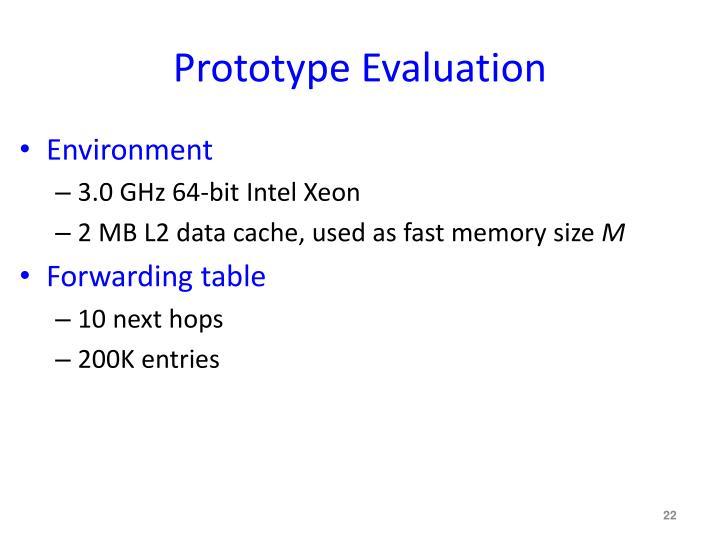 Prototype Evaluation