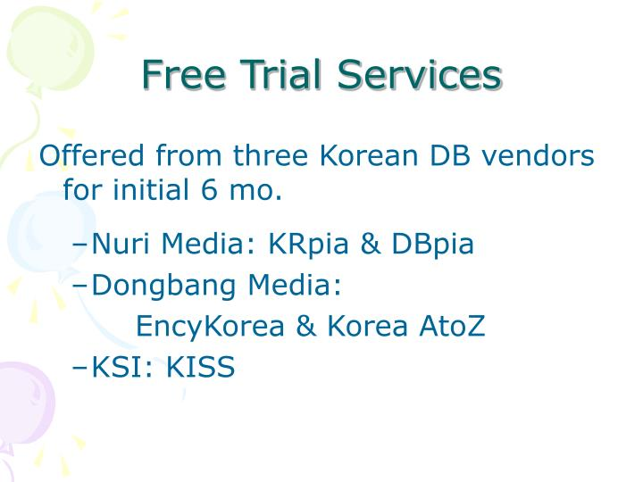 Free Trial Services