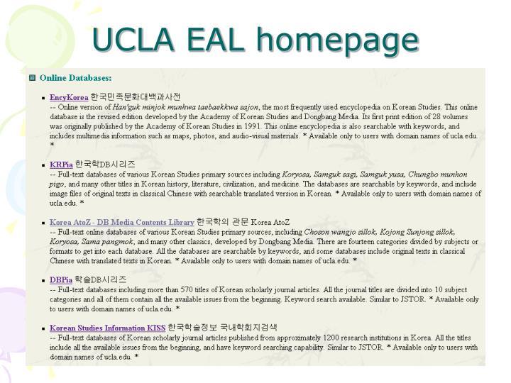 UCLA EAL homepage