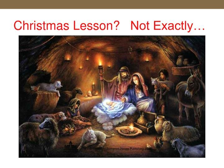 Christmas Lesson?