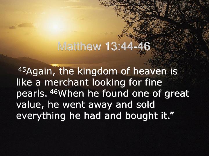 Matthew 13:44-46