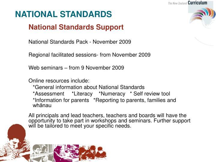 National Standards Support