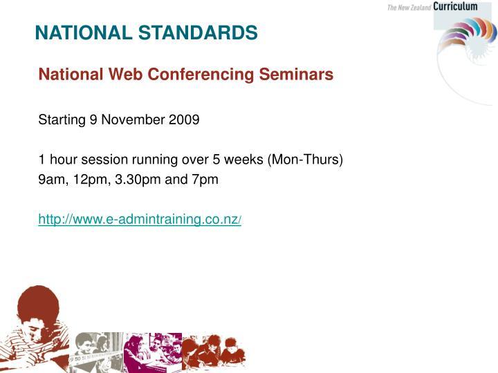 National Web Conferencing Seminars