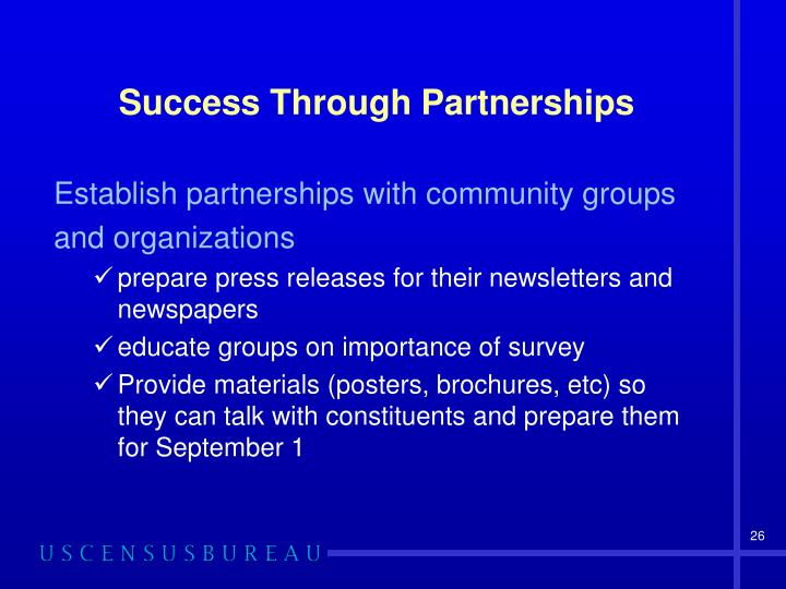 Success Through Partnerships