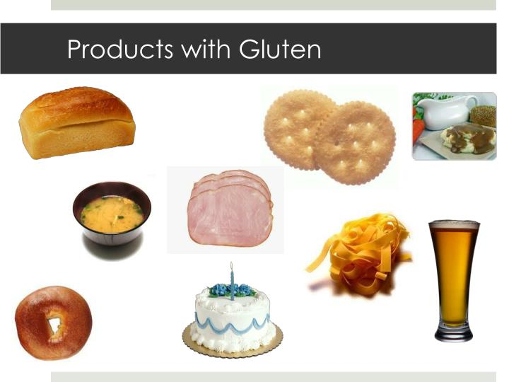 Products with Gluten