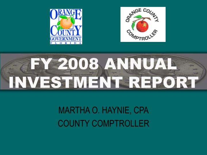 fy 2008 annual investment report