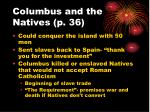 columbus and the natives p 36