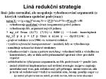 l n reduk n strategie