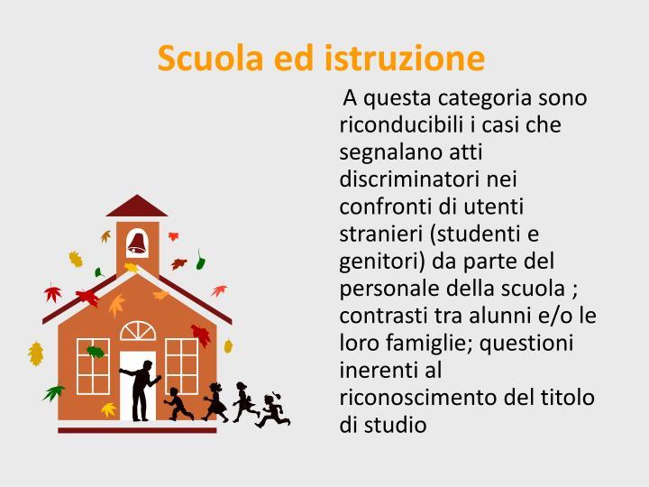 Scuola ed istruzione