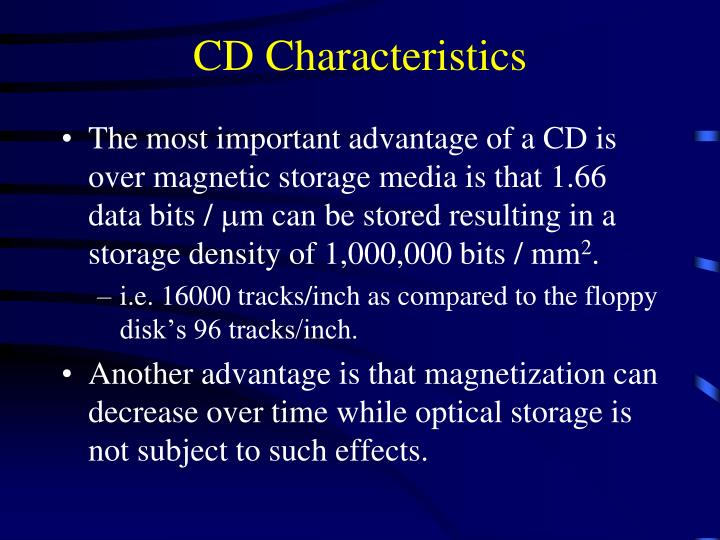 CD Characteristics