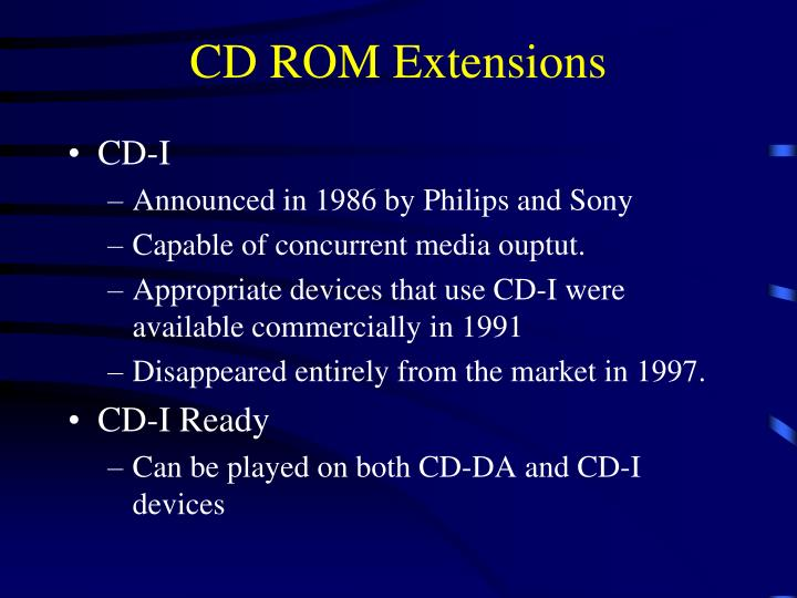 CD ROM Extensions