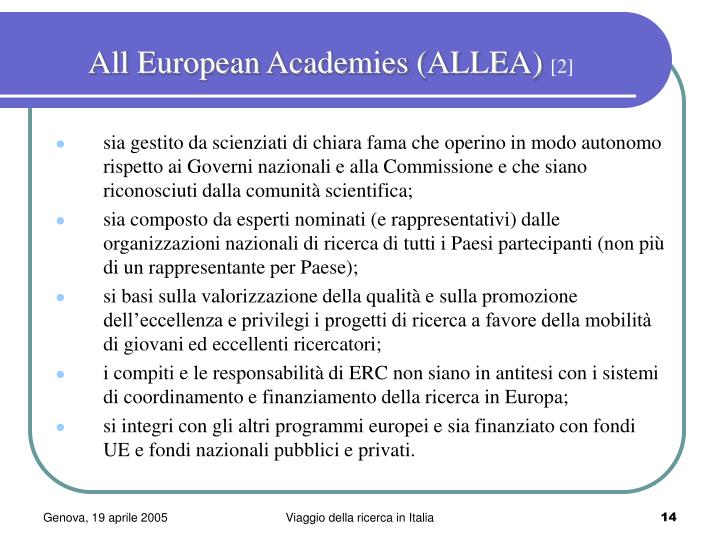 All European Academies (ALLEA)