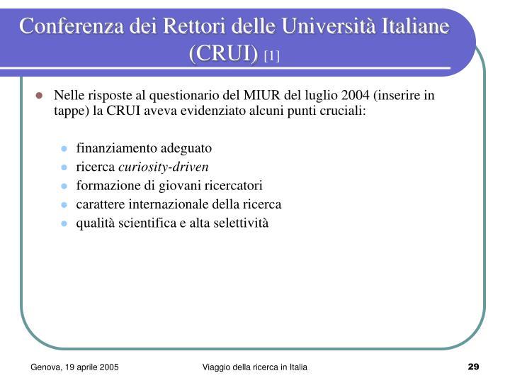 Conferenza dei Rettori delle Università Italiane (CRUI)