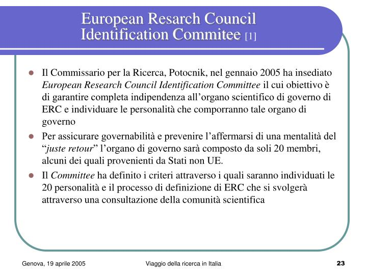 European Resarch Council