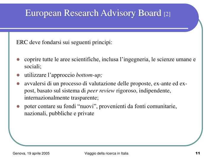 European Research Advisory Board