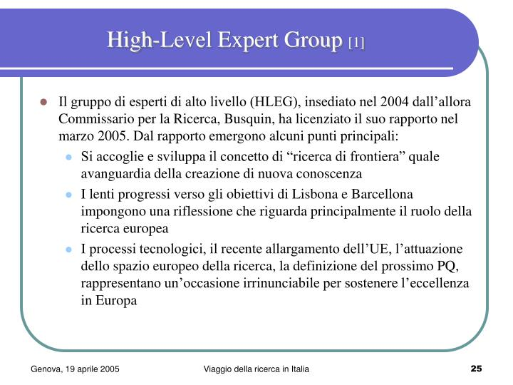 High-Level Expert Group