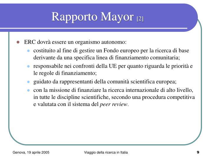 Rapporto Mayor
