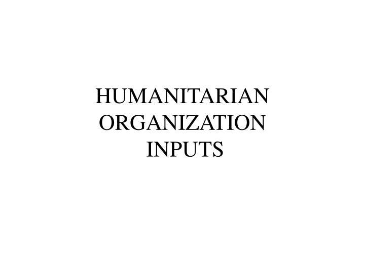 HUMANITARIAN ORGANIZATION