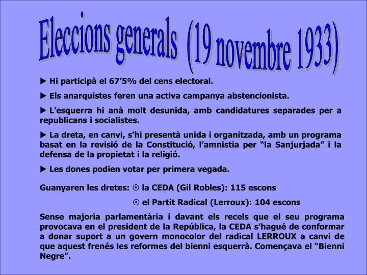 Eleccions generals  (19 novembre 1933)