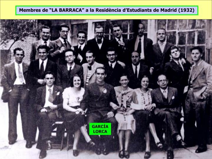 """Membres de """"LA BARRACA"""" a la Residència d'Estudiants de Madrid (1932)"""