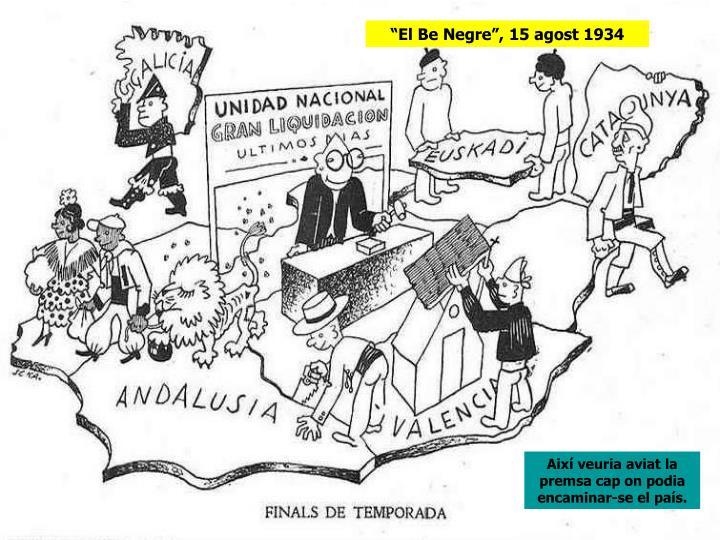 """""""El Be Negre"""", 15 agost 1934"""