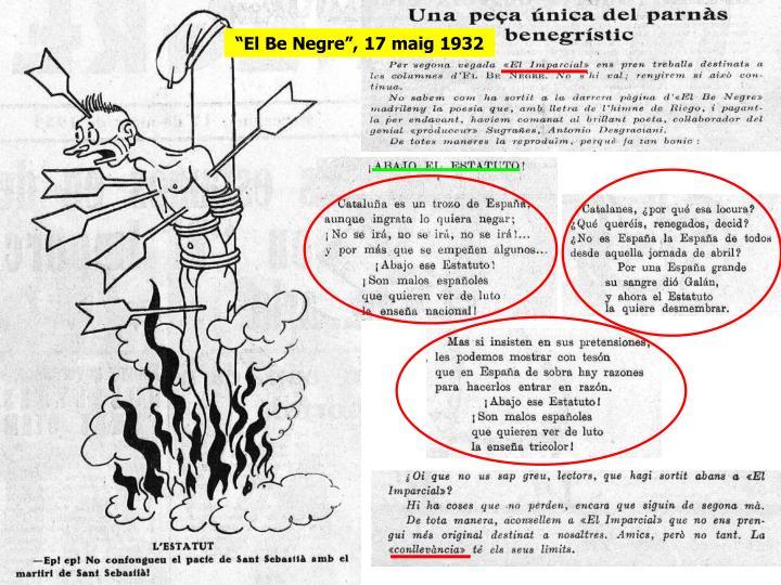 """""""El Be Negre"""", 17 maig 1932"""