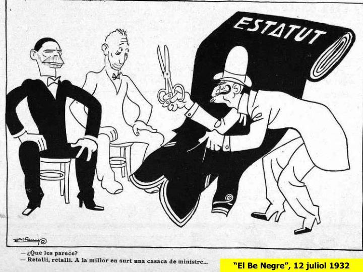 """""""El Be Negre"""", 12 juliol 1932"""